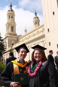 Carly and Brandon on graduation day