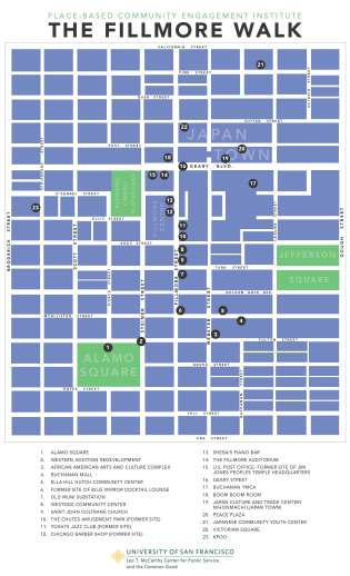 Fillmore Walk Map